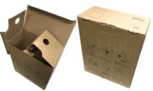 牛皮盒 印單色黑 一體成型